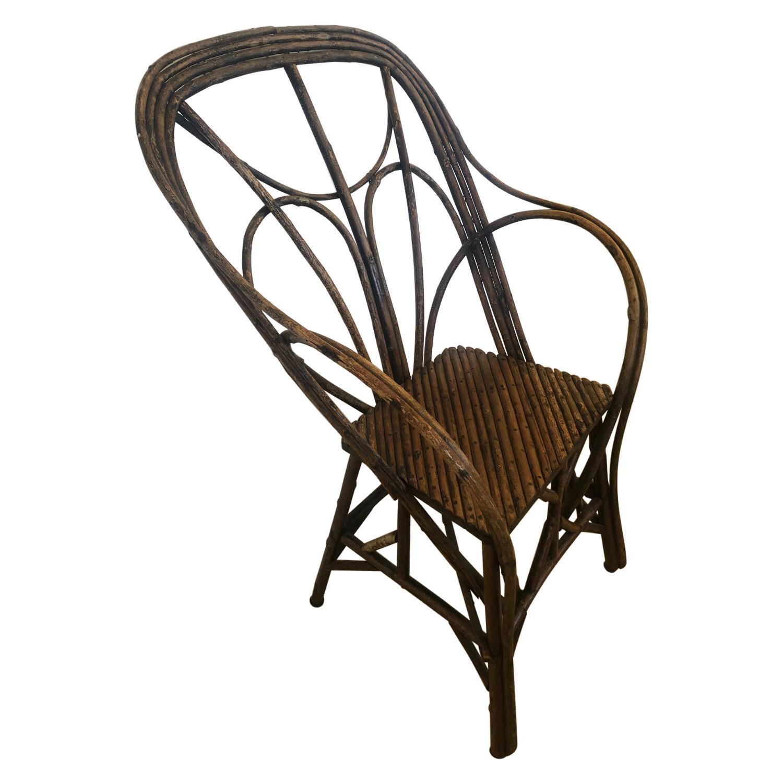 Authentic Antique Rustic Adirondack Twig Chair