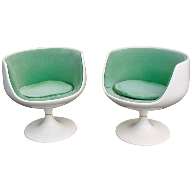 Authentic Asko Pair of Eero Aarnio Cognac Chairs For Sale