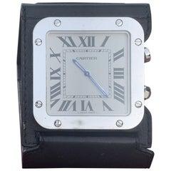 Authentic Cartier Santos Travel Alarm Table Clock