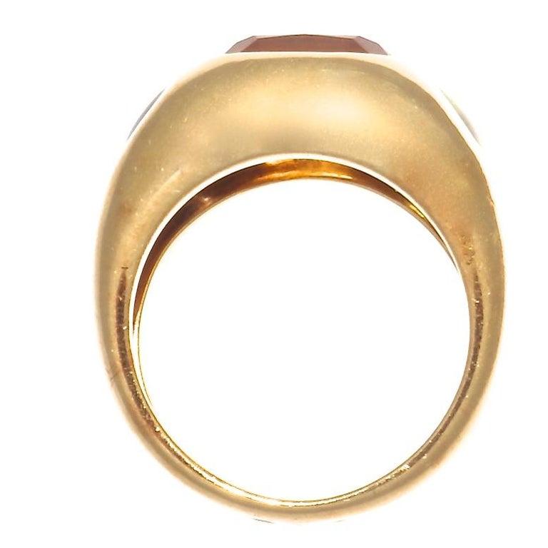 Contemporary Authentic Chanel France Citrine Peridot Iolite Gold Ring, circa 2000s For Sale