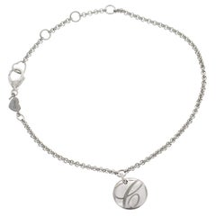 Authentic Chopard Chopardissimo 18 Karat White Gold Bracelet