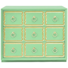 Authentic Dorothy Draper Espana Chest in Neo Mint