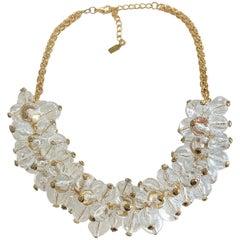 Authentic Escada Lucite Sphere Pools of Light necklace