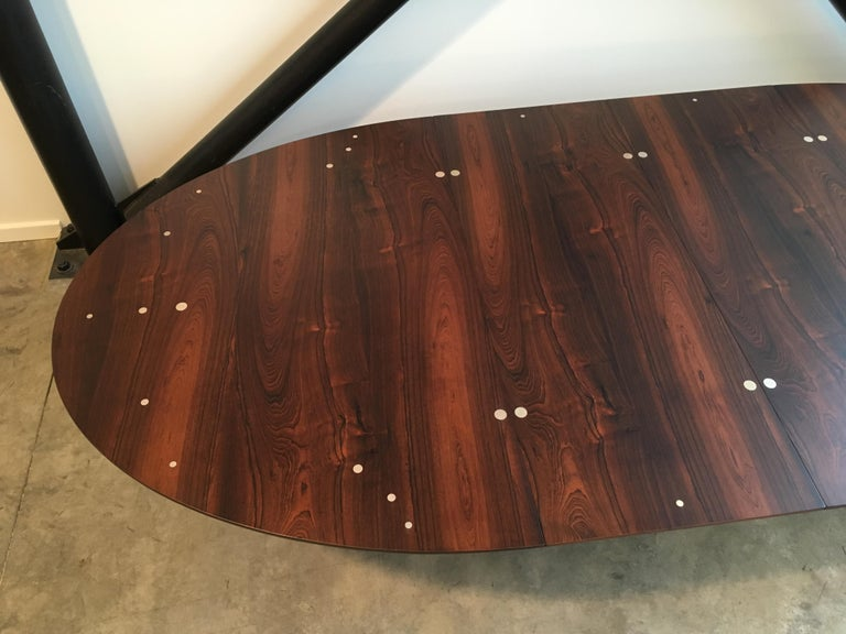 Danish Authentic Finn Juhl Judas Dining Table in Rosewood and Silver For Sale