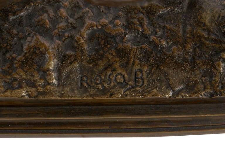 """Authentic French Antique Bronze Sculpture """"Taureau Beuglant"""" by Rosa Bonheur 9"""