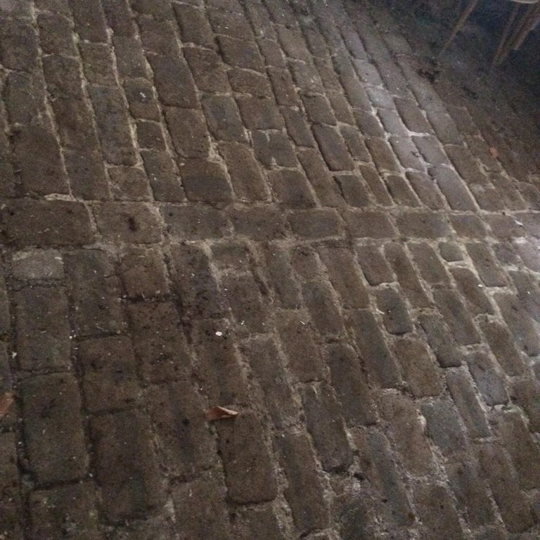 Authentic French antique cobble stone from France, 17th century. Rare and unique. Price is per square foot.
