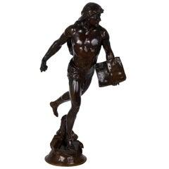 """Authentic French Bronze Sculpture of """"Le Semeur"""" by Emile Picault"""