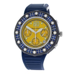 Authentic Gerald Charles Seaside Steel Diamond Rubbies Automatic Watch