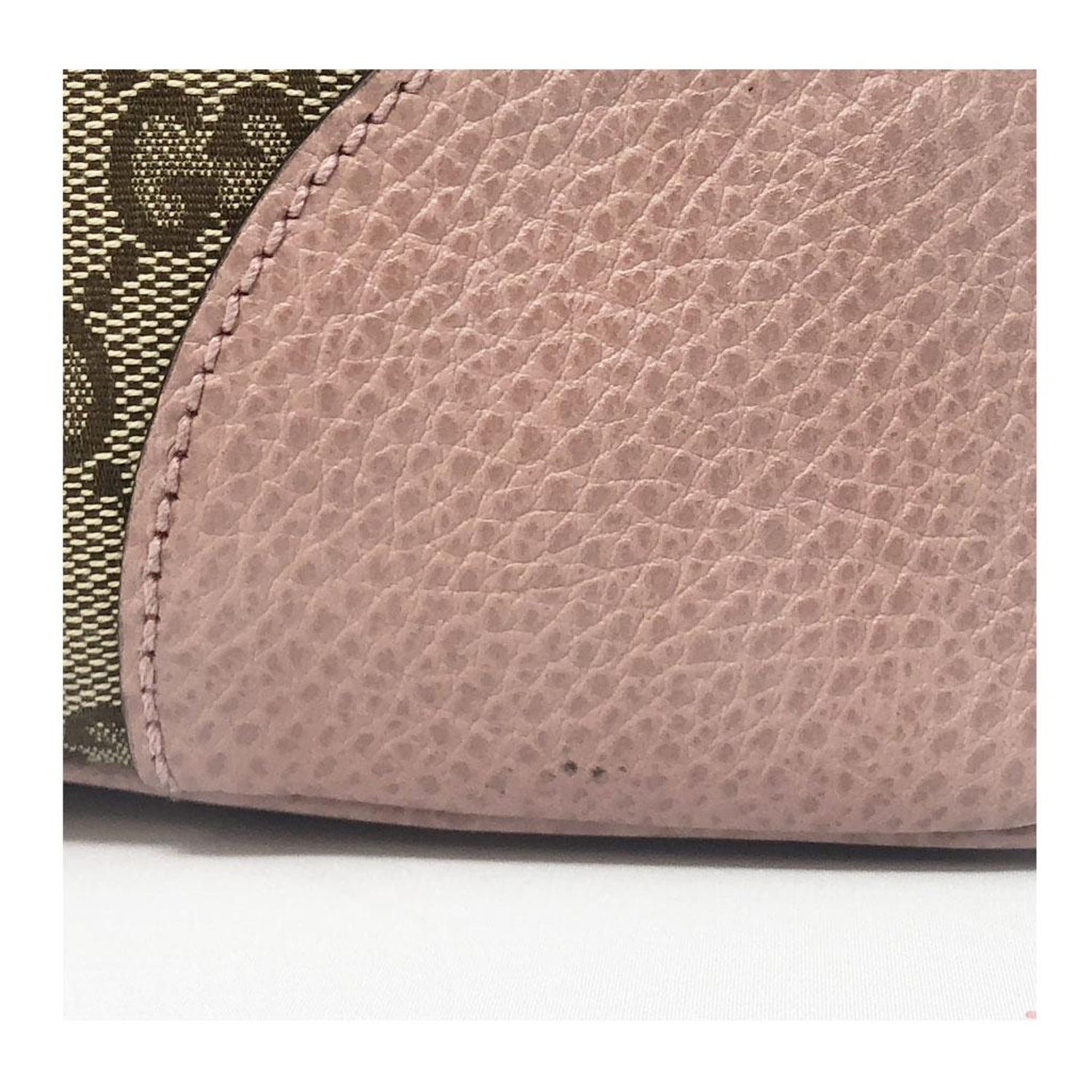 9c73b76cf13 Authentic Gucci Monogram and Pink Leather Large Tote Bag in Dust Bag For  Sale at 1stdibs