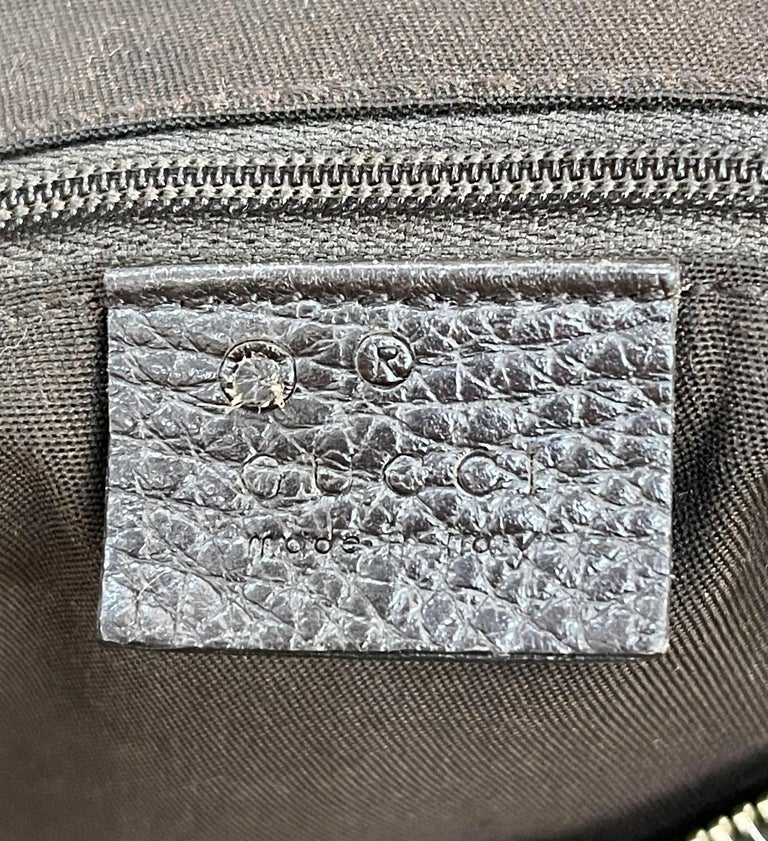 Authentic GUCCI Shoulder Hand Bag GG Canvas Leather Brown Beige like  Brand New For Sale 7