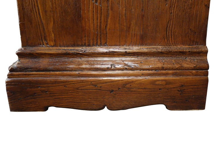 18th Century Style Italian Old Chestnut 2 Door Credenza Sideboard with 2 Drawers For Sale 3