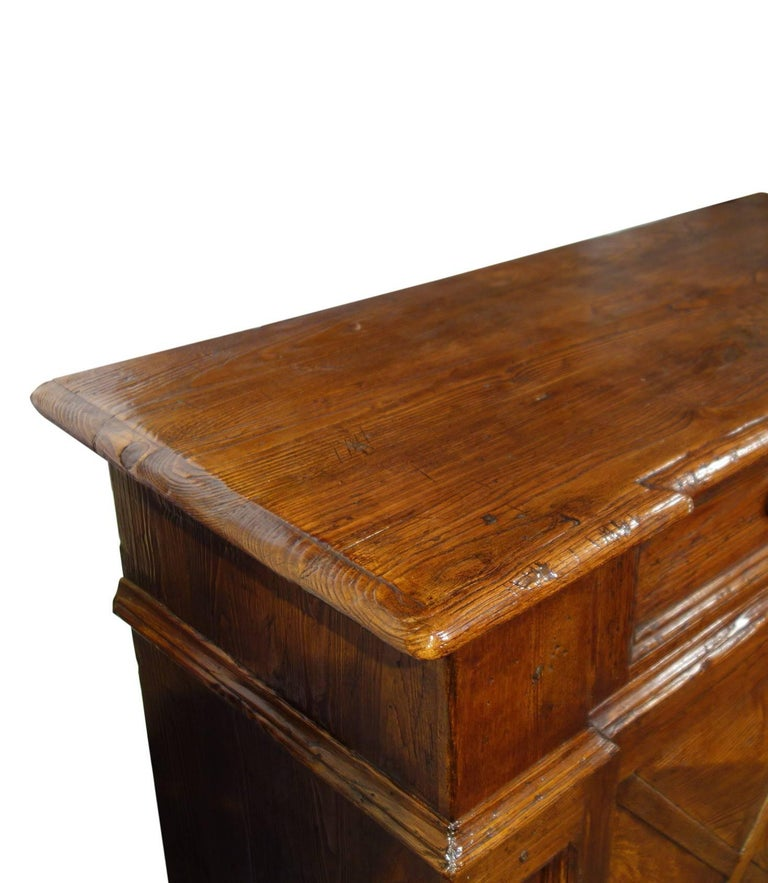 18th Century Style Italian Old Chestnut 2 Door Credenza Sideboard with 2 Drawers For Sale 7