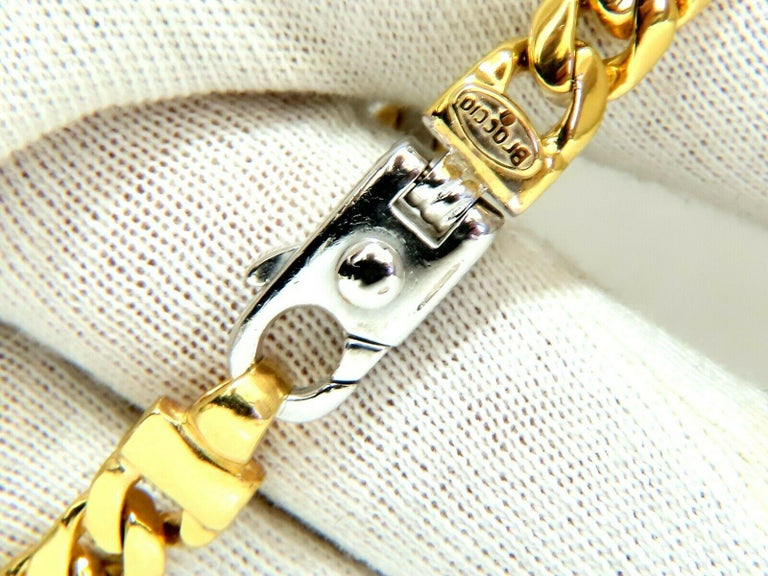 Authentic Italian Braccio Men S Diamond Curb Link Bracelet