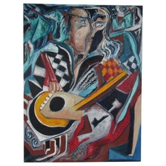 Authentic Julio Aguilera Oil on Canvas Painting