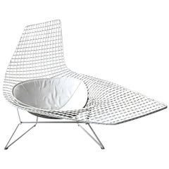 Authentic Knoll Bertoia Asymmetric Chaise