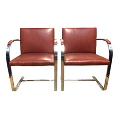 Authentic Knoll Brno Chairs by Mies Van Der Rohe