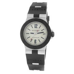 ac1d99f7c031e Authentic Ladies Bvlgari Diagono Aluminum Date Quartz Watch