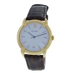 Authentic Ladies Chaumet 18K Yellow Gold MOP Quartz Date 32mm Watch
