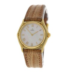 Authentic Ladies Ebel Classic 18 Karat Yellow Gold Mother of Pearl Quartz Watch