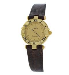 Authentic Ladies Omega Constellation Solid 18 Karat Yellow Gold Quartz Watch