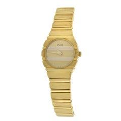 Authentic Ladies Piaget Polo Quartz 18 Karat Yellow Gold Watch