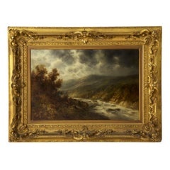 Authentic Landscape Painting of River by Thomas B. Griffin