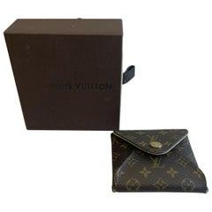 Authentic Louis Vuitton LV Logo Monogram Jewelry Case & Box