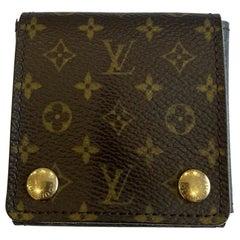 Authentic Louis Vuitton LV Logo Monogram Jewelry Case