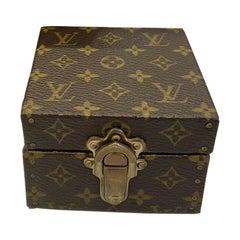 Authentic Louis Vuitton LV Logo Monogram Jewelry Hard Box Case