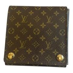 Authentic Louis Vuitton LV Logo Monogram Large Jewelry Case