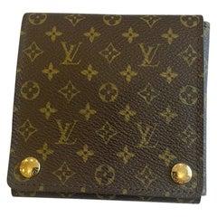 Authentic Louis Vuitton LV Logo Monogram Large Size Jewelry Case