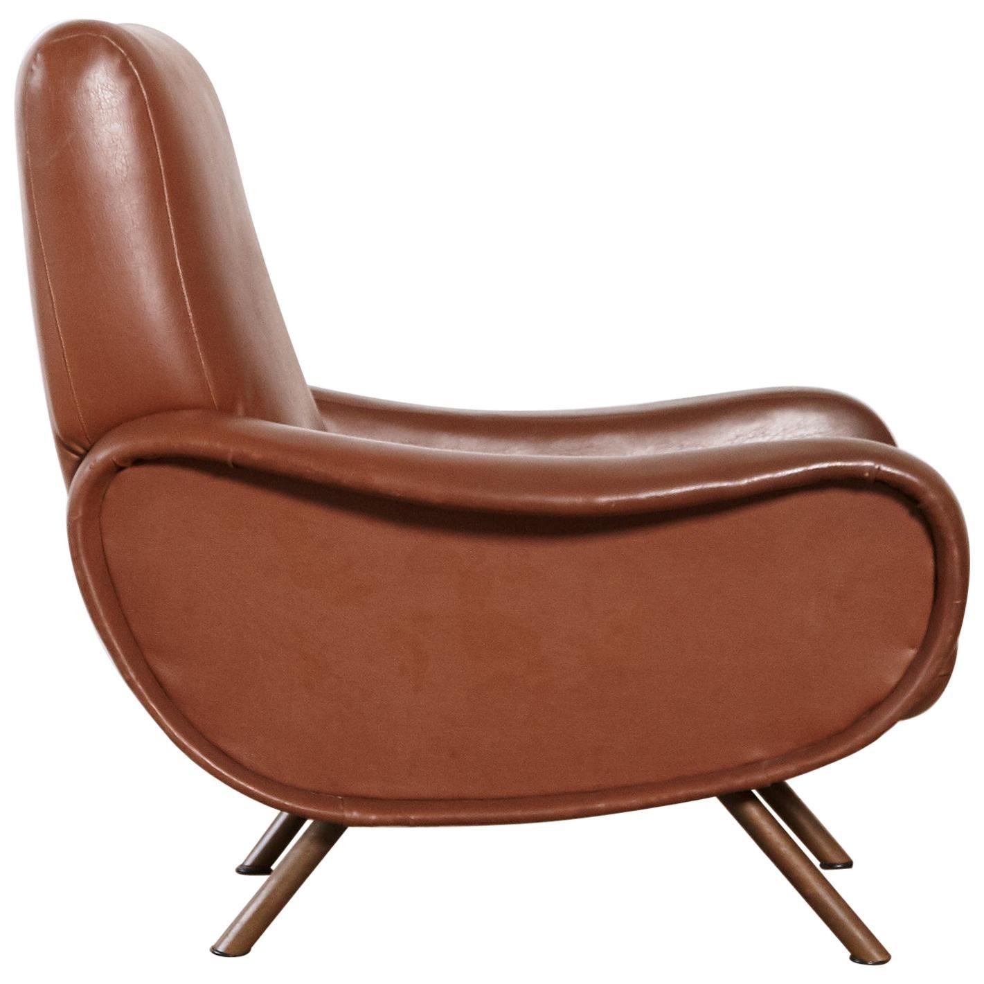 Authentic Marco Zanuso Lady Chair, Arflex, Italy, 1950s-1960s