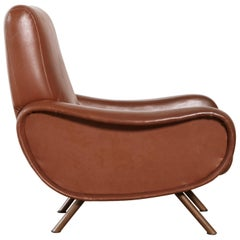 Authentic Marco Zanuso Lady Chair, Arflex, Italy, 1950s-1960s