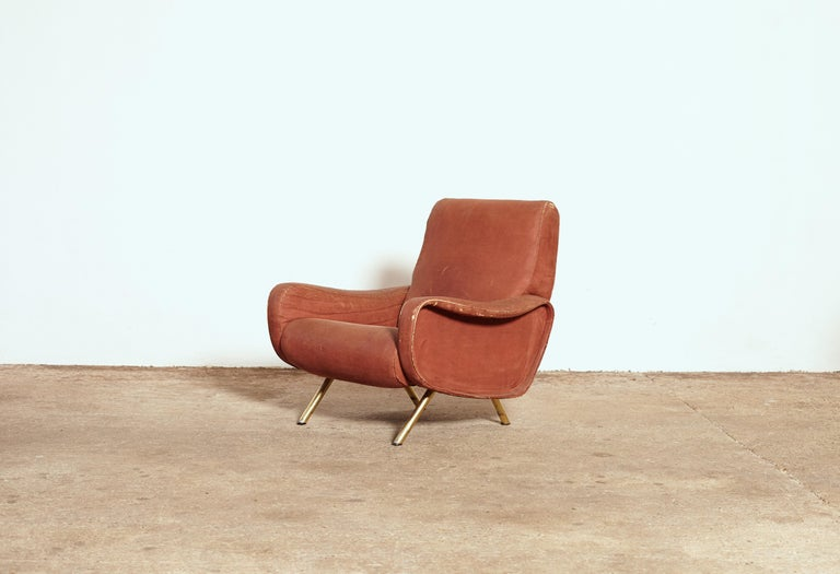 Mid-Century Modern Authentic Marco Zanuso Lady Chair, Arflex, Italy, 1960s for Re-Upholstery For Sale