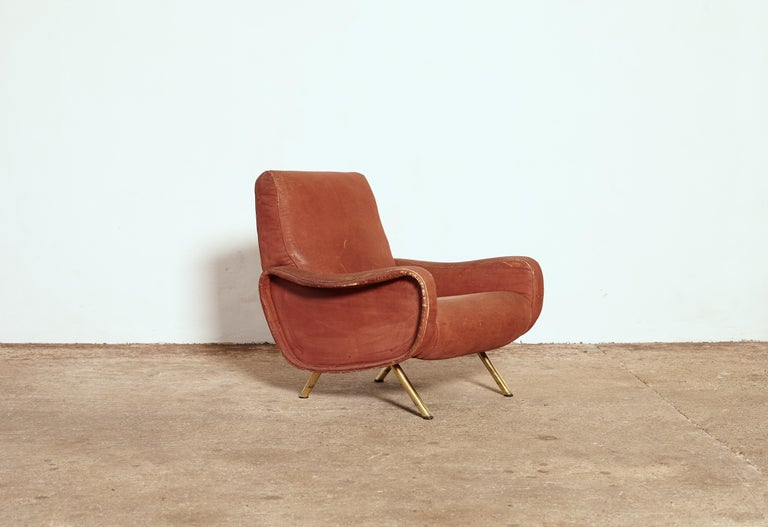 20th Century Authentic Marco Zanuso Lady Chair, Arflex, Italy, 1960s for Re-Upholstery For Sale