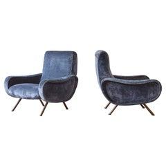 Authentic Marco Zanuso Lady Chairs, Arflex, Italy, 1950s