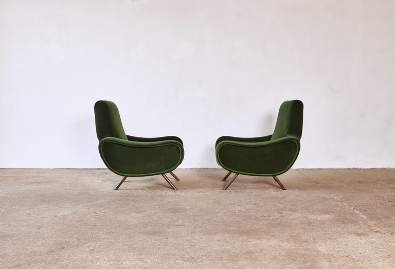 Mid-Century Modern Authentic Marco Zanuso Lady Chairs, Arflex, Italy, 1950s, Newly Reupholstered
