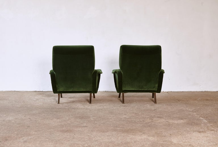 Italian Authentic Marco Zanuso Lady Chairs, Arflex, Italy, 1950s, Newly Reupholstered