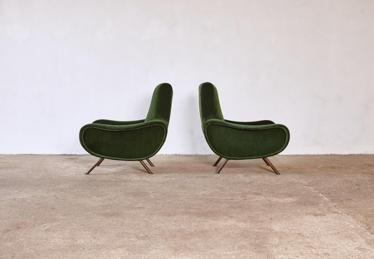 Authentic Marco Zanuso Lady Chairs, Arflex, Italy, 1950s, Newly Reupholstered In Good Condition In London, GB