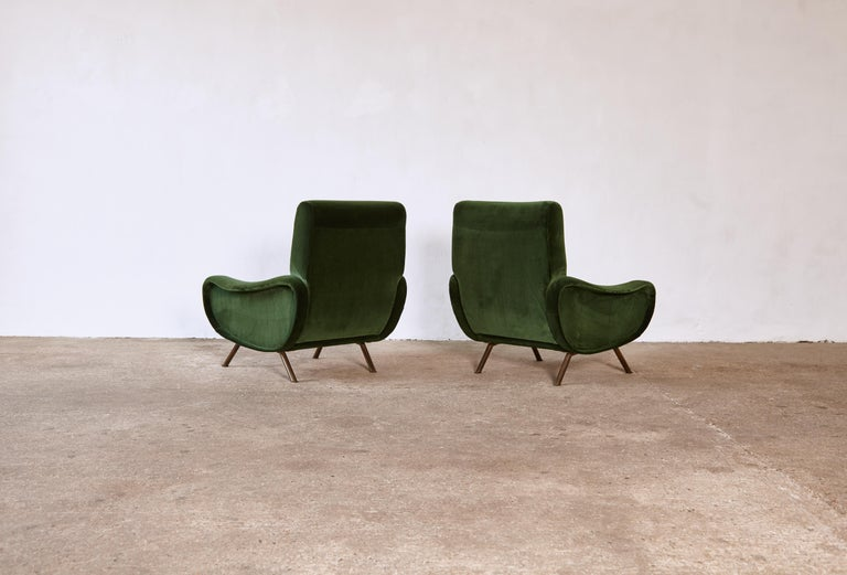 20th Century Authentic Marco Zanuso Lady Chairs, Arflex, Italy, 1950s, Newly Reupholstered