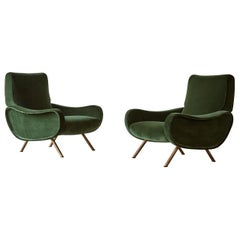 Authentic Marco Zanuso Lady Chairs, Arflex, Italy, 1950s, Newly Reupholstered