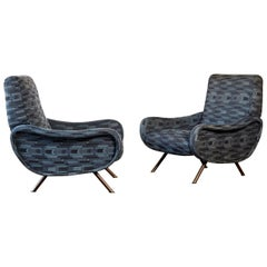 Authentic Marco Zanuso Lady Chairs, Arflex, Italy, 1960s