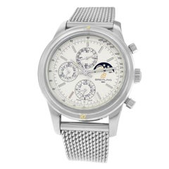 Authentic Men's Breitling Transocean Steel Chronograph Moon Watch