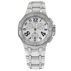 Authentic Men's Concord Saratoga Steel Rubber Chrono Quartz Watch
