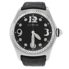 Authentic Men's Corum Boutique Bubble Steel Diamond Quartz Watch