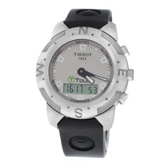 Authentic Men's Tissot T-Touch Z Stainless Steel Multifunction Watch