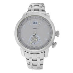 Authentic Men's Tourneau Safari Dual Time Zone Quartz Date Watch