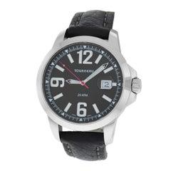 Authentic Men's Tourneau Seapearl Stainless Steel Quartz 20ATM Watch