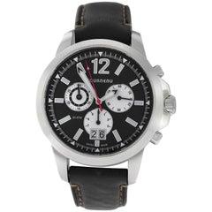 Authentic Men's Tourneau Steel Chronograph Quartz Date Watch
