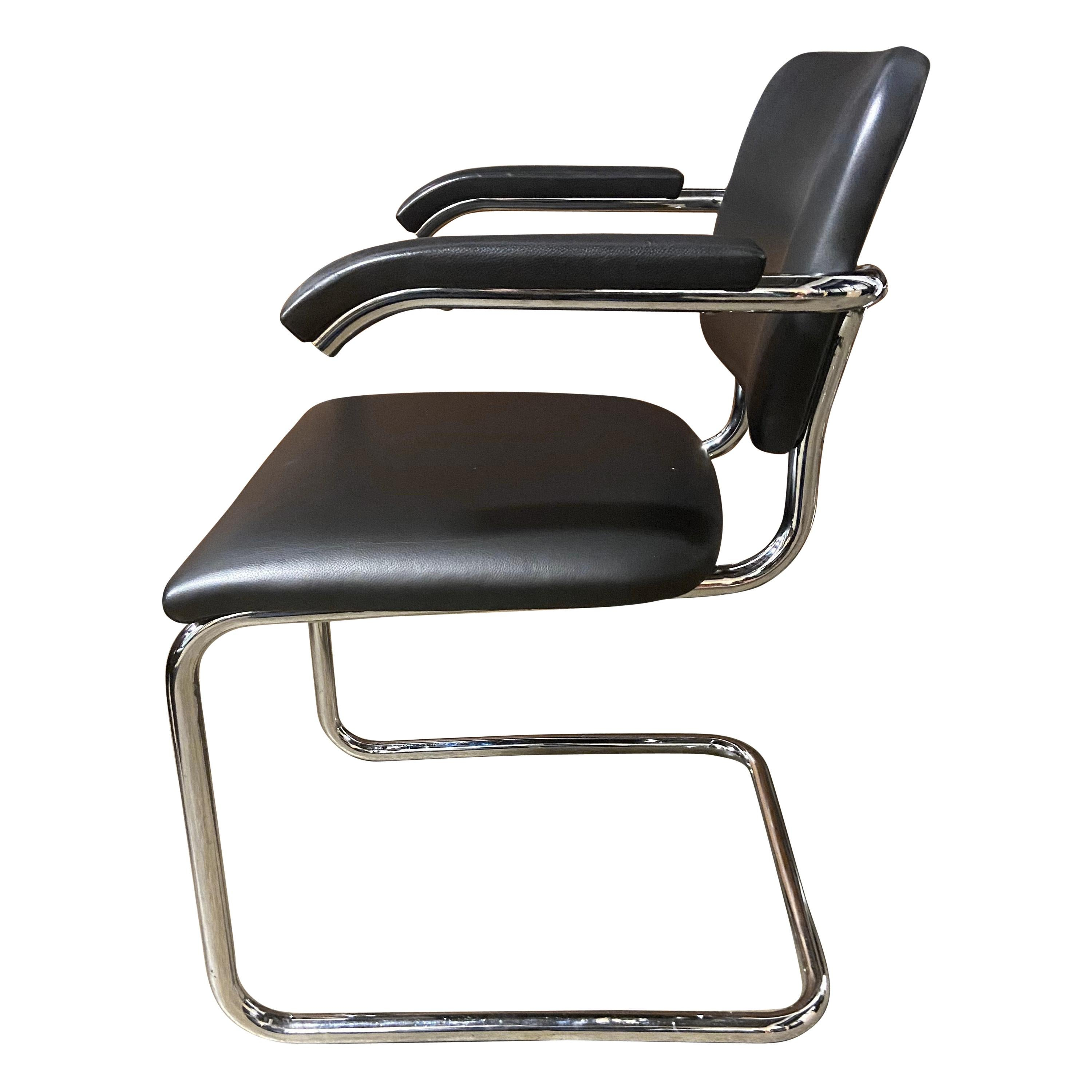 Authentic Midcentury Cesca Chairs by Marcel Breuer for Knoll